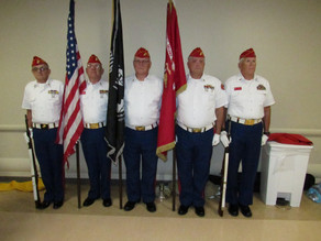 MCL Det Color Guard at VA in Tampa Florida.