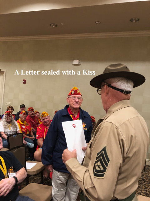 A letter sealed with a kiss