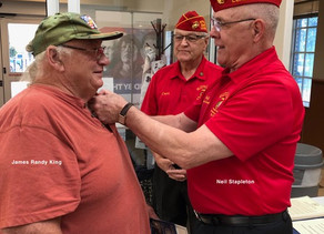 Another Vietnam WaR Pinning At The VA Clinic, Mulberry Grove Plaza, The Villages Florida.