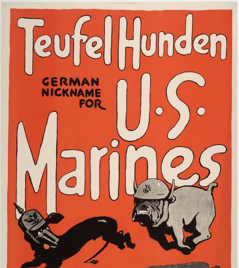 Teufel_Hunden_US_Marines_recruiting_post