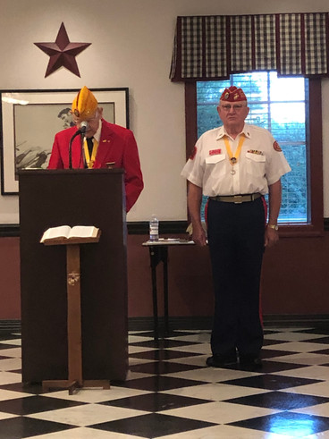 Past National Vice Commandant, South East Division, Jim Hackbarth  Swears in Nathan Pratt as Commandant (2nd Term)