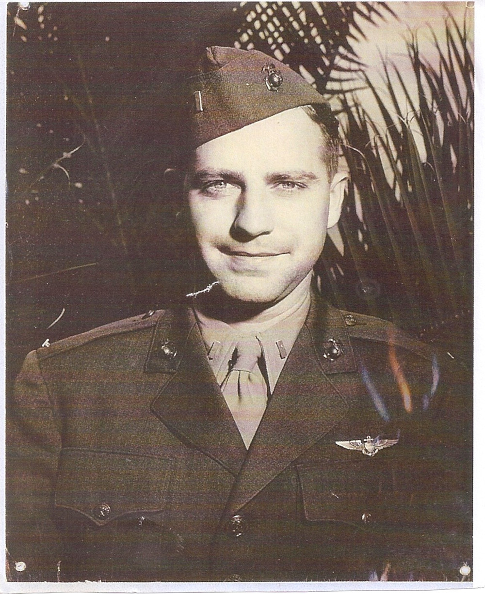 Phillip C. DeLong, 1St LT. USMC cira 1940s