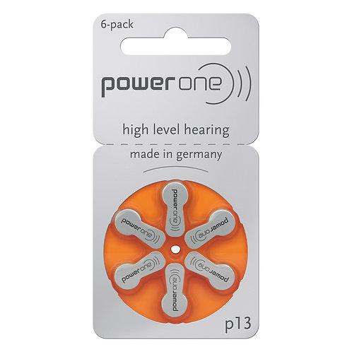 Baterias P13 PowerOne (Com 6 unidades)