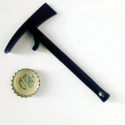 Black Pulaski bottle opener