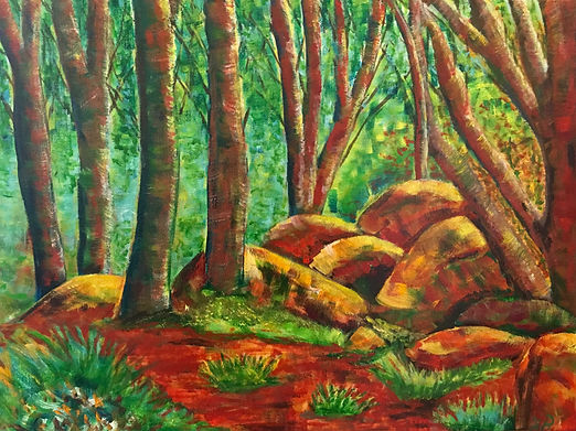 Landscape Spring in the Bush Di Parsons Art