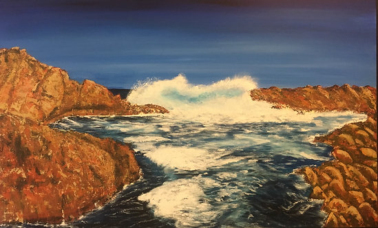 Canal Rocks Acrylic on Canvas 122x76cm