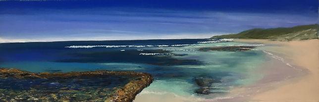 Yallingup Shore Pastel on Paper 65x20cm