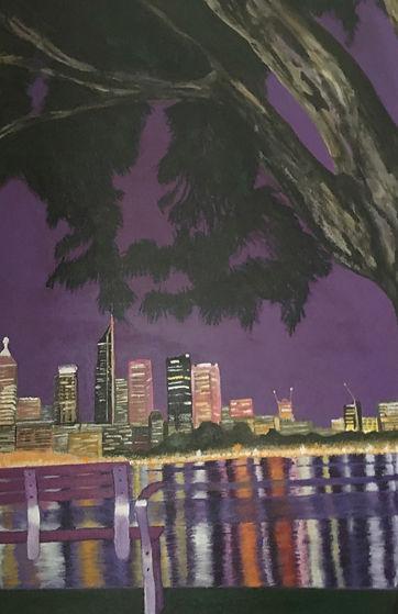 Cityscape Perth Night