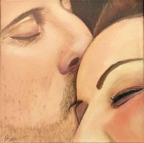 Portrait Painting Lovers Kiss Di Parsons Art
