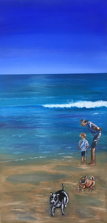 At The Beach 36x72cm
