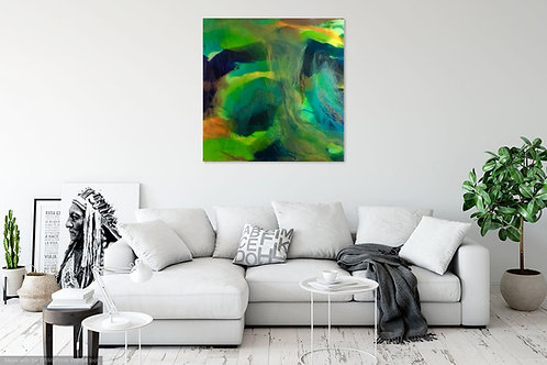 Into The Abyss 80x80cm
