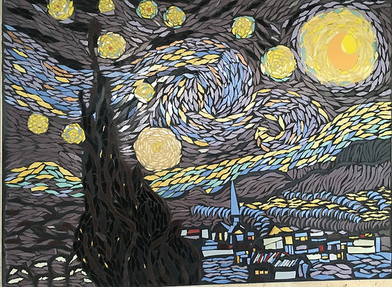 Wall Mosaic Van Gogh's Starry Night