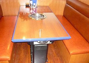内装 焼肉屋の椅子張替