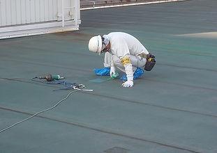工場A 工場棟 屋上シート防水劣化部補修工事