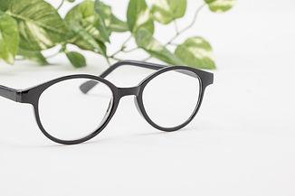 眼鏡と植物