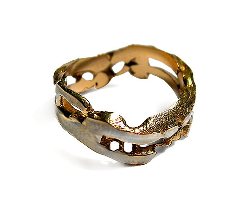 Gold plated Organic Ring