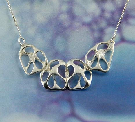 Small silver sea shell necklace