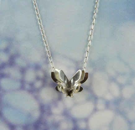 Silver Butterflies Necklace