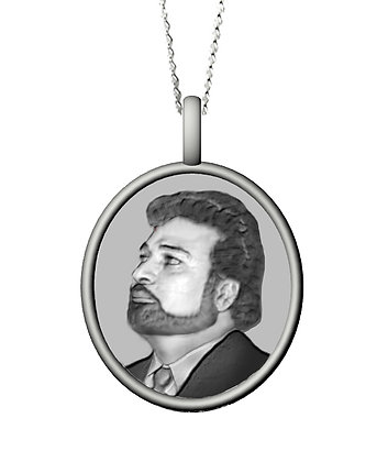 Silver Necklace Photograph Design RESERVED final payment