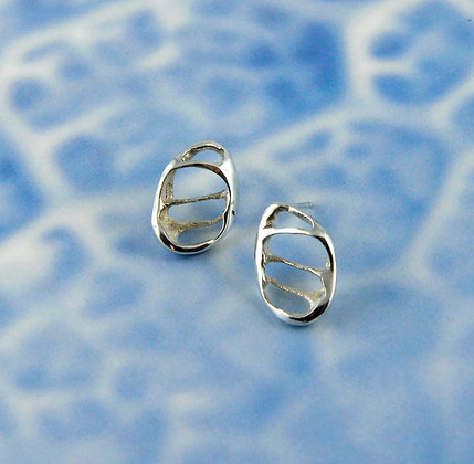Lace Silver Shell Studs