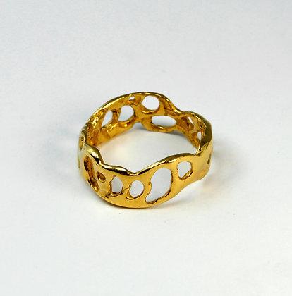 Gold Lace Ring Narrow