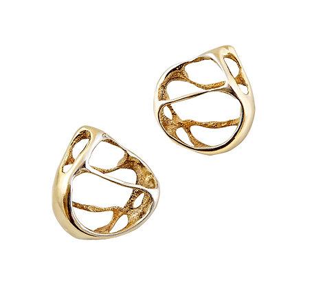 Gold Silver Lace Earrings