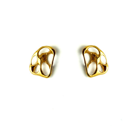 Small Gold Shell Studs