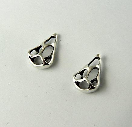 Silver Lace Post Earrings