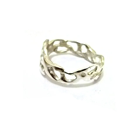 Narrow Silver Lace Ring