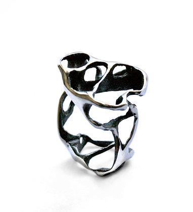 Silver Sculptural Ring