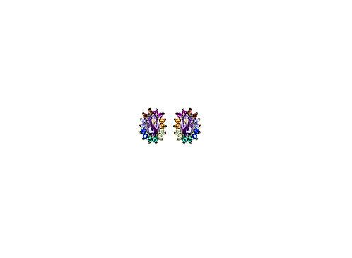Brinco Mini Color Oval