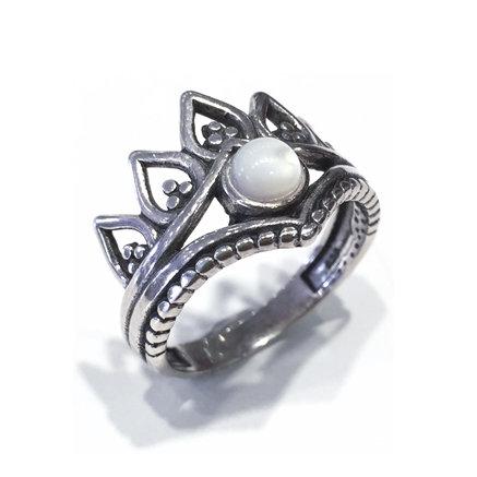Anel de Prata com Madre Perola - 4802