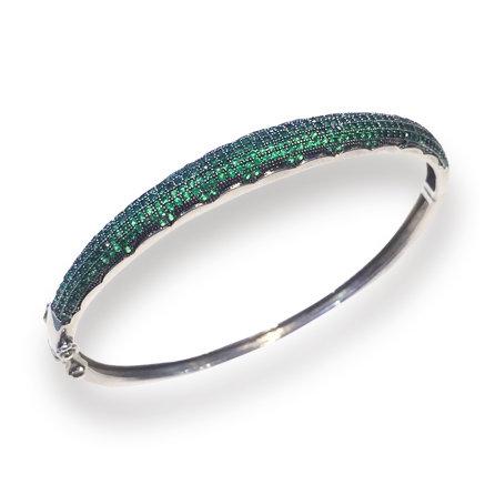 Bracelete com Zirconia Esmeralda
