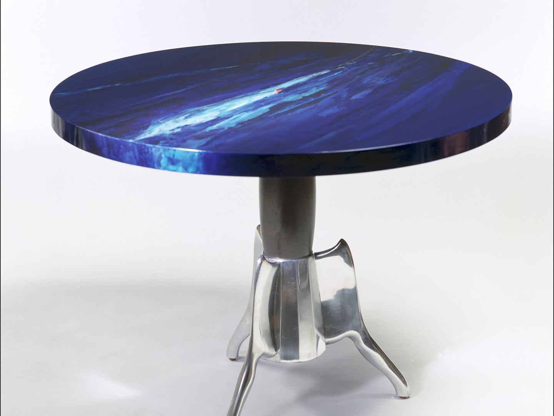 """Table """"dinette"""" piétement """"café sogno""""de Jean Pierre Auger   VENDU"""