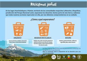 Reciclaje de residuos en la cuenca de los Lagos Huechulafquen y Paimún