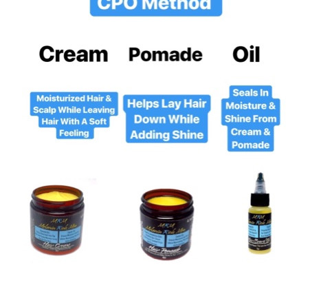 CPO Method (Cream, Pomade, Oil)