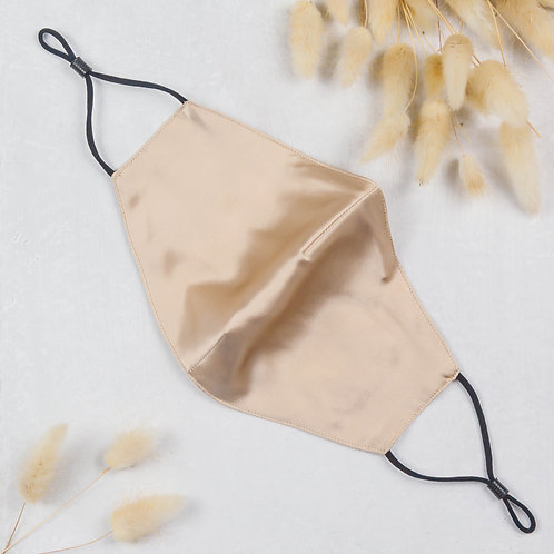 Beige Mulberry Silk Face Mask Washable and Reusable 10 Filters included