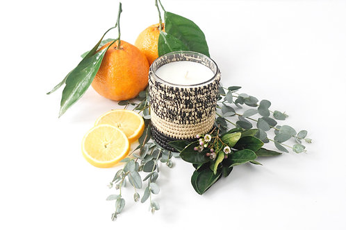 Orange Blossom + Vetiver Home Candle - 40 Hour Burn Time | Single Wick
