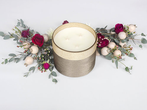 Pomegranate Rose Suede Home Candle - 80 Hour Burn Time | Triple Wick