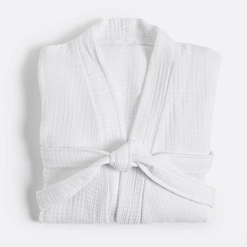 Cocoon Cotton Robe - WHITE