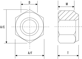 Nylon Insert Nut (Nyloc) DIN982 P Type