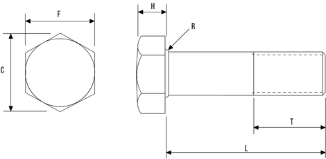 Hex Bolt DIN931 / ISO4014