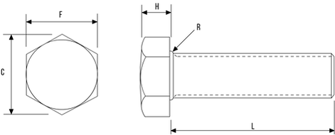 Hex Setscrew DIN933 / ISO4017