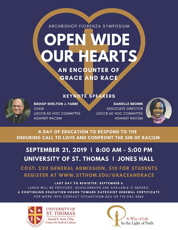 Open Wide Our Hearts Flyer - Flyer & Age
