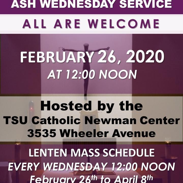 ASH WEDNESDAY SERVICE 2020