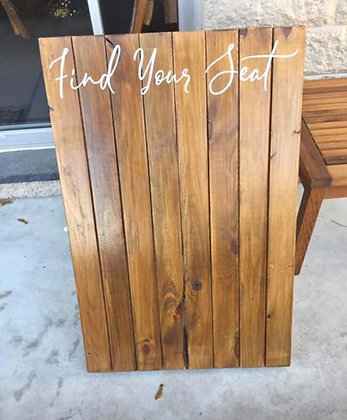 Find Your Seat Sign