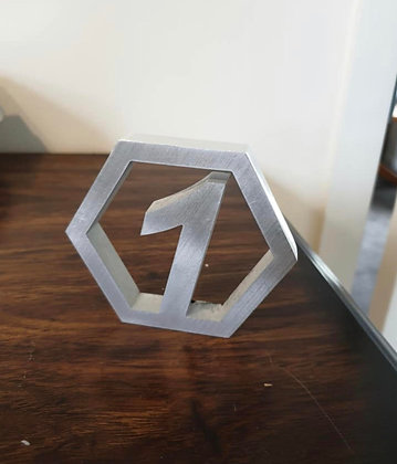 Aluminium Table Numbers