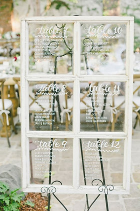 Seating Chart Window Frames