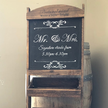 Signature Drinks Stand/Sign