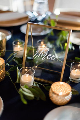 Gold Framed Table Signs
